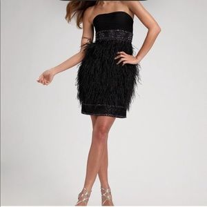 Sue Wong Ostrich Feather Dress